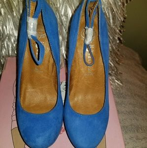 Jeffrey Campbell Stary Nite Blue Suede Shoe